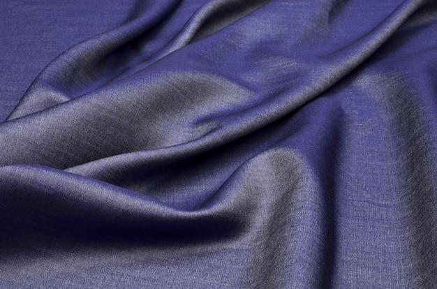 Blue denim and cotton fabric