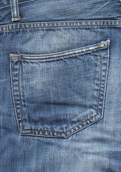 Blue denim pants pocket texture background