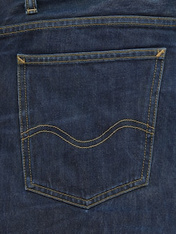 Blue denim pants pocket texture
