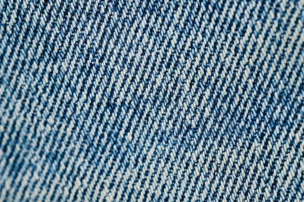 Blue denim texture close-up