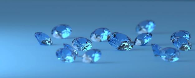 Blue diamonds gem placed