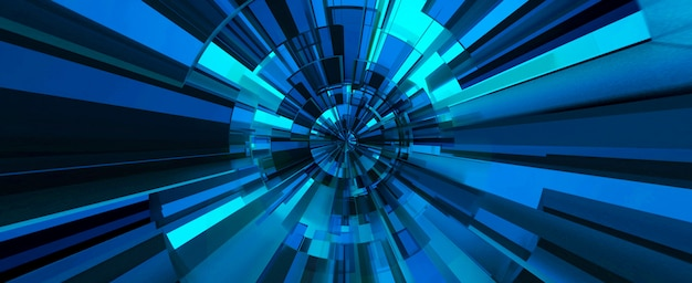 Blue digital abstract background. 3d illustration.