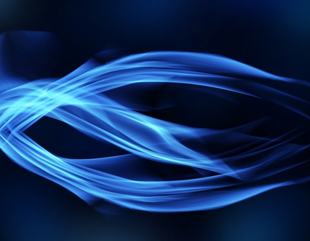 Blue digital smoke abstract backround.