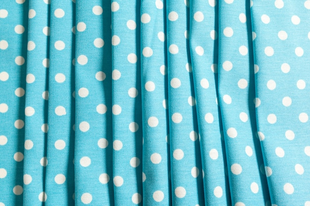 Blue dotted tablecloth