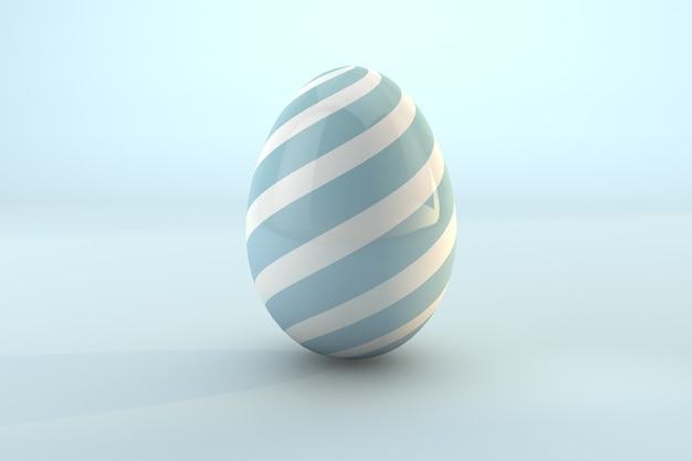 Blue easter egg pattern isolated on blue pastel background. 3d render a file psd transparent background