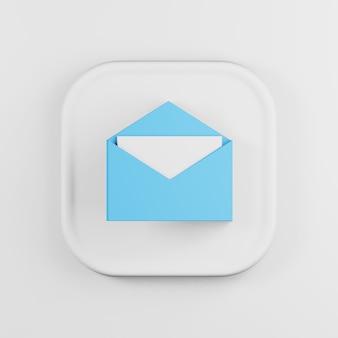 文字漫画スタイルの青い封筒アイコン。