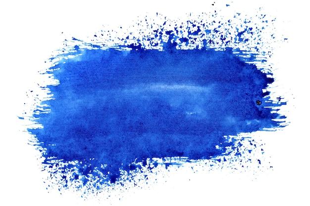 Синий выразительный мазок кисти - абстрактный фон