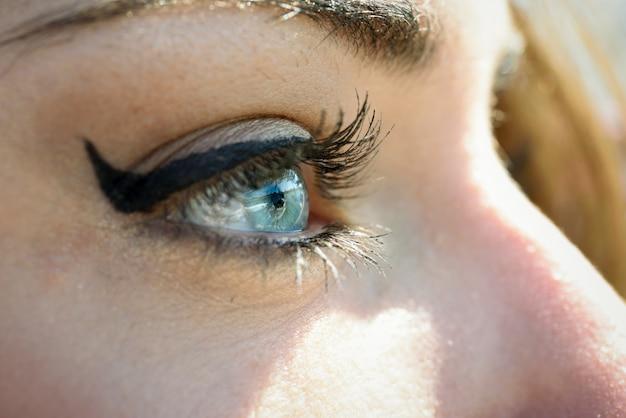 파란 눈 닫기