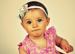 Blue eyed girl   face