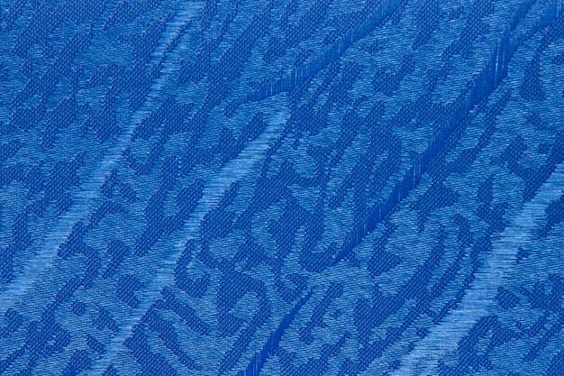 Blue fabric blind curtain texture