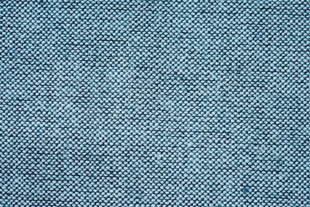 Primo piano del tessuto blu