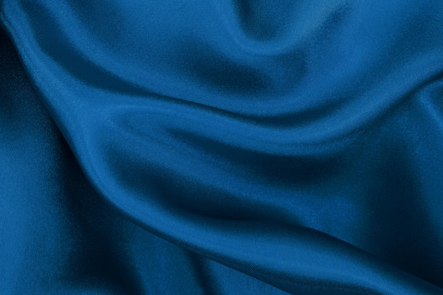 青い布のテクスチャの背景