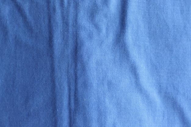 青い布のテクスチャ表面デザイン