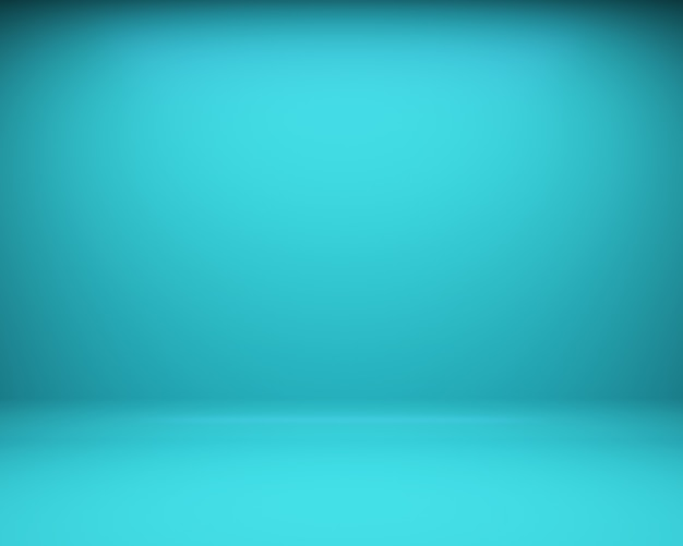 Blue floor and wall background. 3d rendering