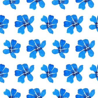 クリッピングパスとのシームレスなパターンで青い花水彩paing