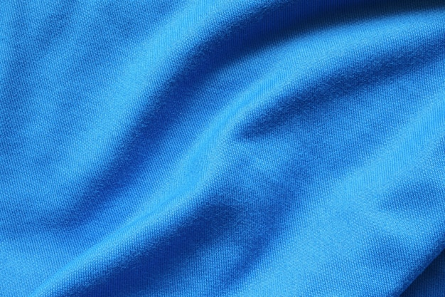 Blue football jersey clothing fabric texture sports wear background