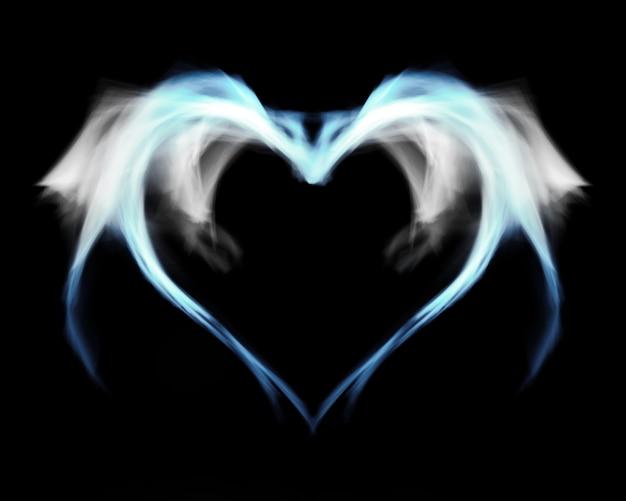煙の翼を持つ青い冷ややかな火の心。