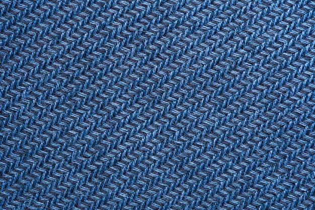 Blue garment fabric texture.