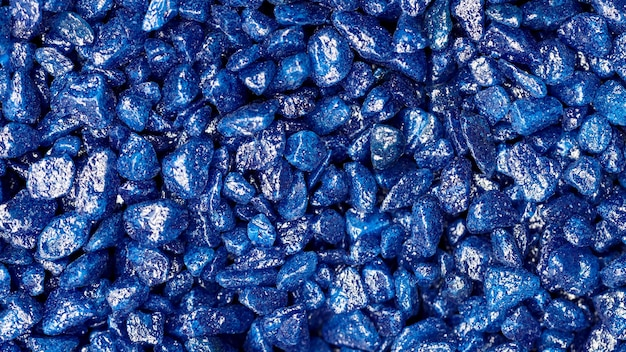 青い宝石の偽のテクスチャの背景