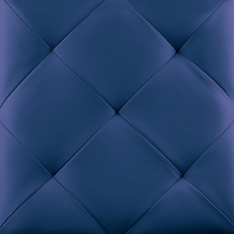 Blue genuine leather upholstery background.