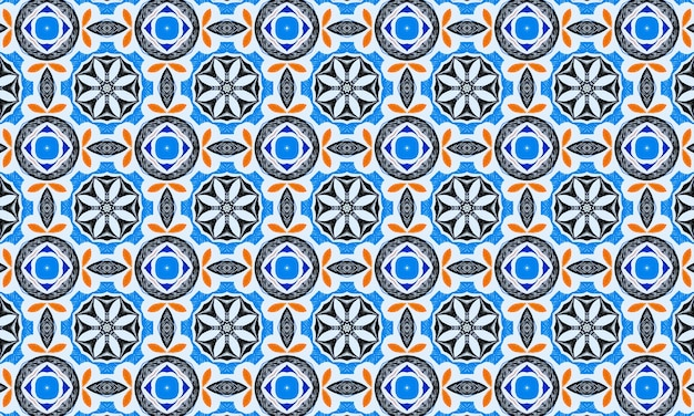 Blue geometric abstract pattern. colorful mosaic background