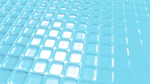 Blue geometric background with relief. 3d rendering.