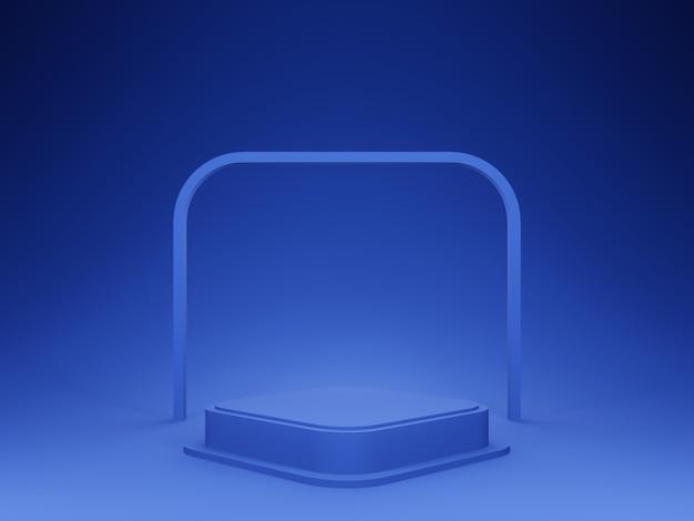 블루 기하학적 무대 연단