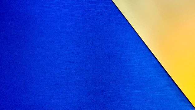 Blue and gold paper geometric background