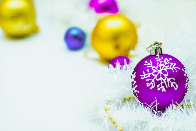 Blue gold and purple christmas decoration
