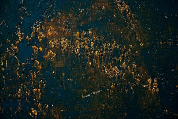 Blue golden vintage art background