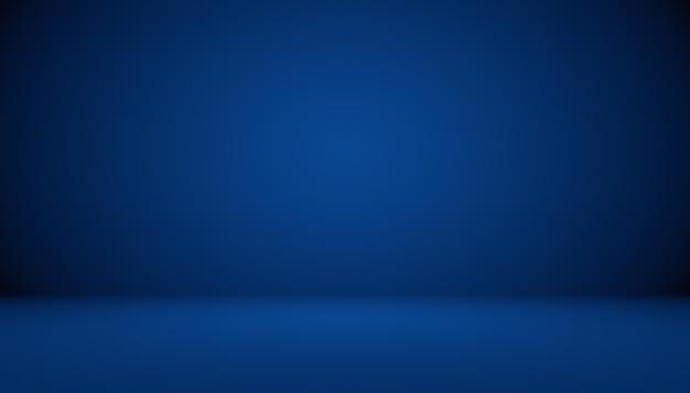 あなたのテキストと画像のためのスペースと青いグラデーションの抽象的な背景の空の部屋。