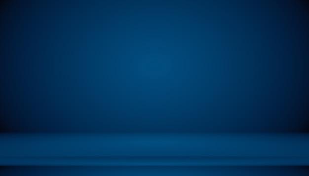 Синий градиент абстрактного фона пустая комната с пространством для вашего текста и изображения.