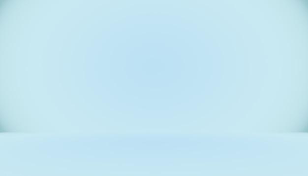 텍스트 및 그림을 위한 공간이 있는 파란색 그라데이션 추상 배경 빈 공간
