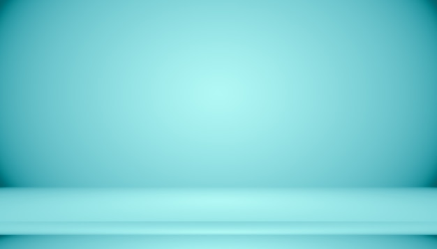 Stanza vuota del fondo dell'estratto di gradiente blu con spazio per il vostri testo e immagine.