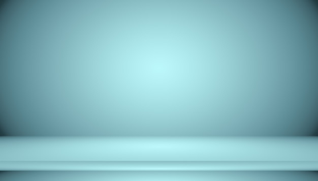 Blue gradient abstract background empty room with space for your text and picture.