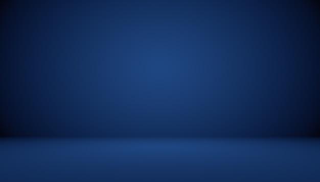 Sfondo astratto sfumato blu stanza vuota con spazio per il testo e l'immagine