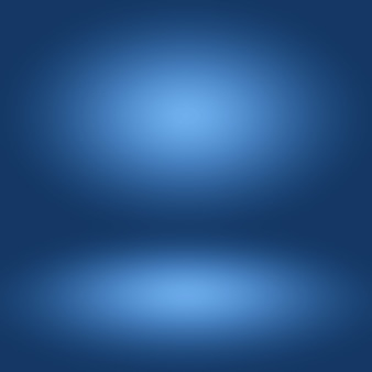 Blue gradient abstract background empty room