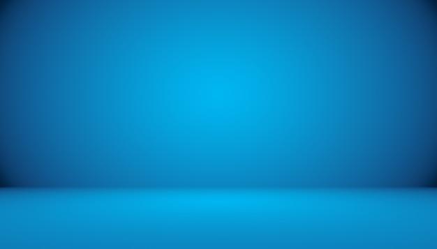 青いグラデーションの抽象的な背景の空の部屋
