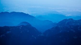 Blue gradient landscape