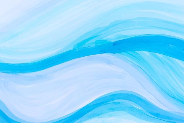 Синий градиент волны море фон световой маркер текстуры