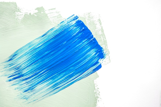 Blue and green strokes