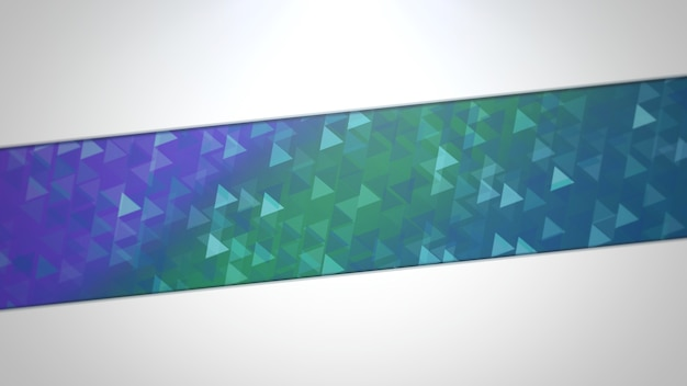 Blue and green triangles, abstract background. elegant and luxury dynamic geometric style for business, 3d illustration