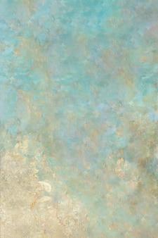 青い汚れた壁の背景