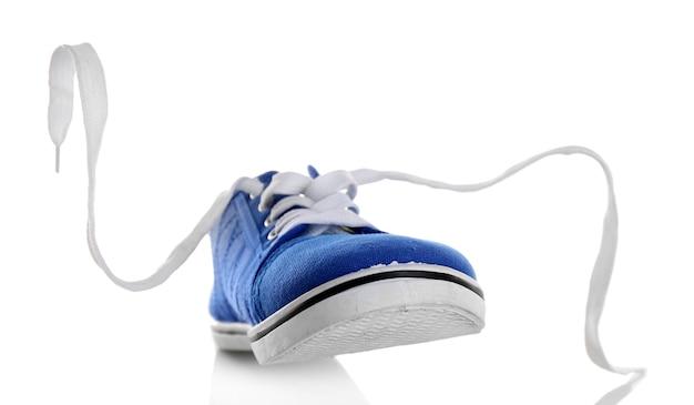 白で分離された青いガムシュー