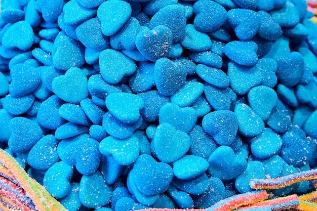 Мармеладные конфеты в форме голубого сердца