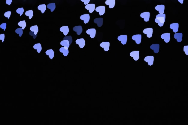 Blue heart-shaped lights