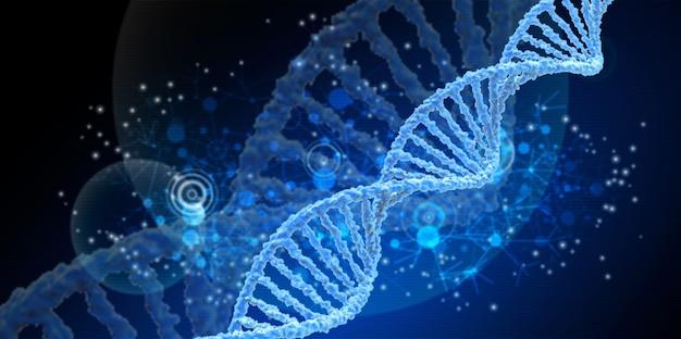 파란색 나선 인간의 dna 구조
