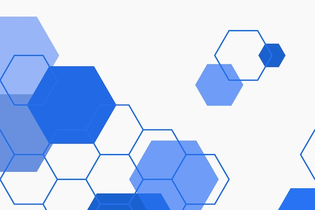 Blue hexagonal patterned background