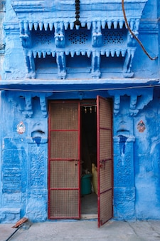 Blue houses in streets of of jodhpur