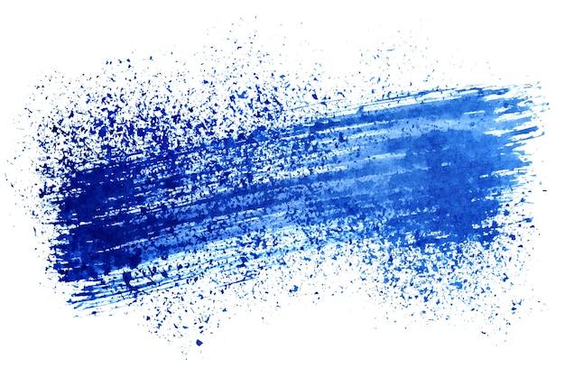 Синие чернильные мазки на белом фоне - место для вашего собственного текста
